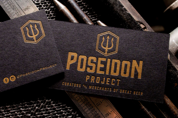 Finely printed metallic gold ink business cards from Daniel Heffernan of Clove St. Press.