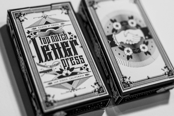 Letterpress printed playing cards printed exquisitiely via Clove St. Press and Daniel Heffernan.
