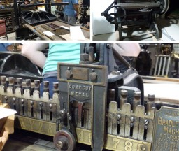 A printer's paradise of presses were able for preview at Type On The Cob.