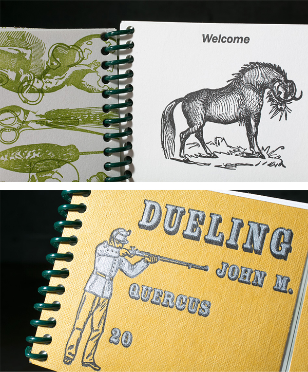 Inset details of the Dueling Dictionaries by John Quercas look beautiful!