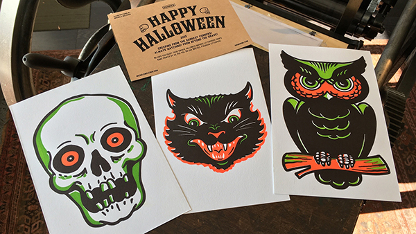 "Our ""Let's See That Printed"" article features the spooky letterpress posters by Brian Isserman (and wife) of Primer."
