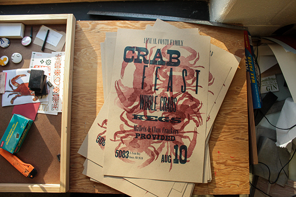 A poster project featuting hand-set type is produced at Miami University (Ohio)'s letterpress program.