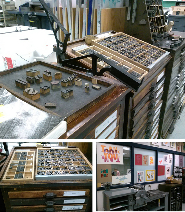 Madison College Center For Printing Arts boasts a huge array of type, wood type, and cuts in its Printing Arts Center.