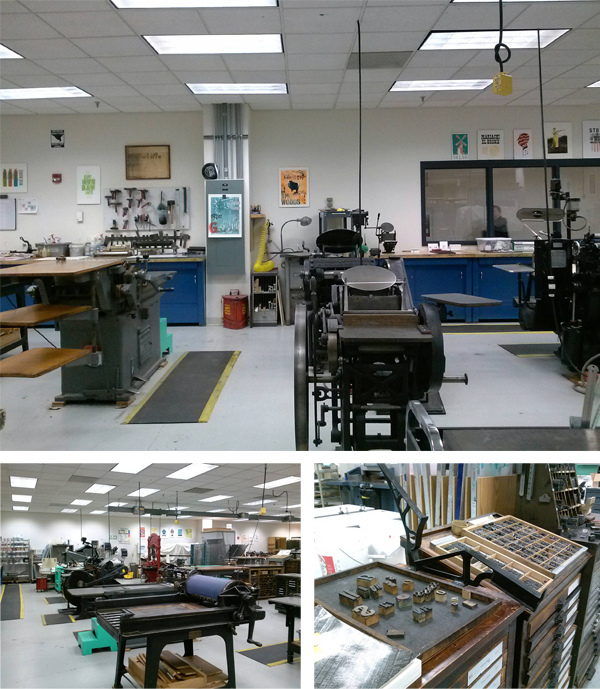 A plethora of presses and printing items can be found at Madison College Center For Printing Arts.