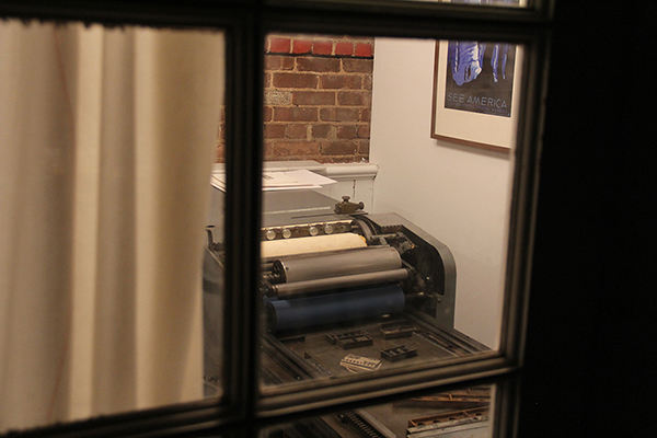 The Vandercook press at Nane Press