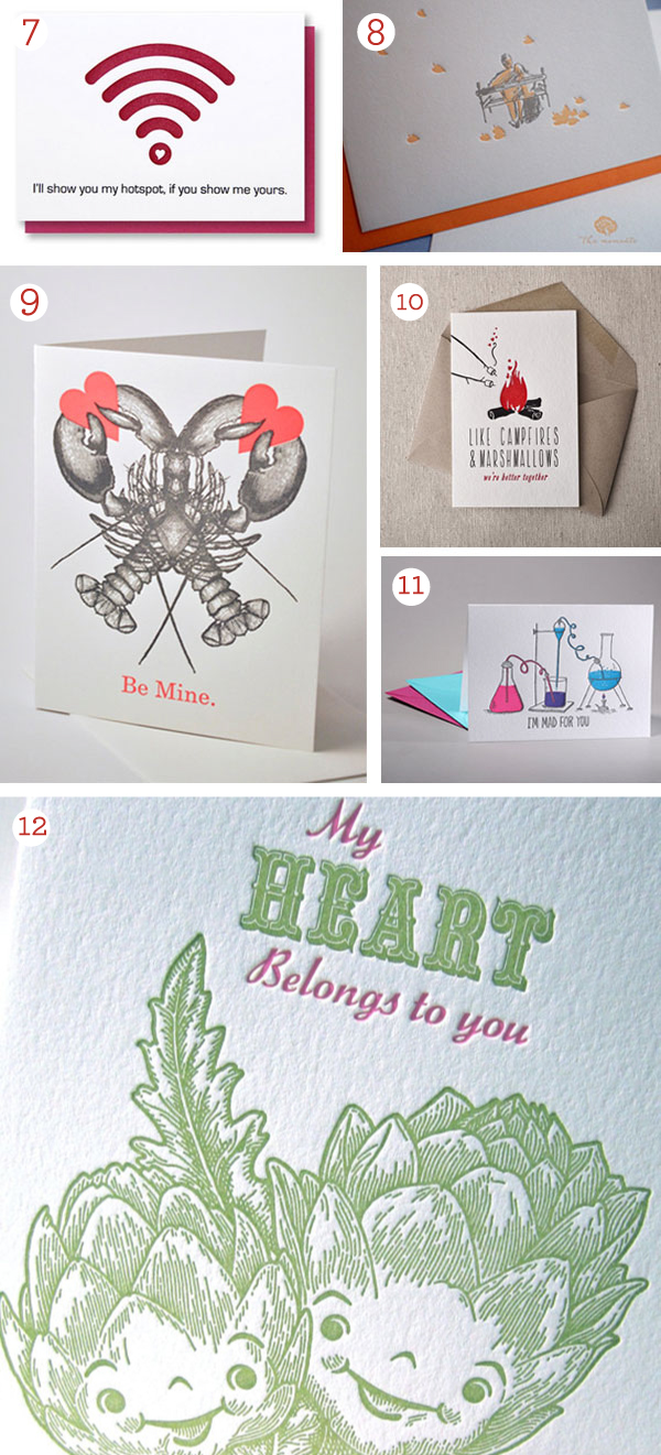 2016 Valentine's Day letterpress cards featuring sweet moments, funny cards, and letterpress beauties!