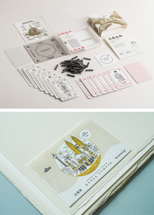 We follow the beautifully crafted designs of The Alphabet Press, a Malaysia-based letterpress print company that features the type-loving Zeejay Wong and his team of letterpress aficionados.