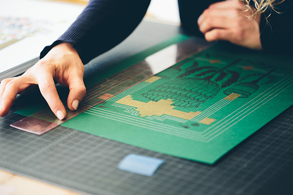 Britt Madden & Ava Goldberg of Banshee Press are the best friend duo behind the beautiful letterpress pieces that are hand printed in Colorado