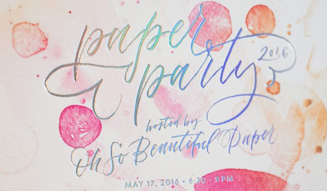 Holographic foil Paper Party invitations