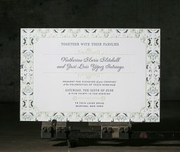 Letterpress wedding invitations from Boxcar Press