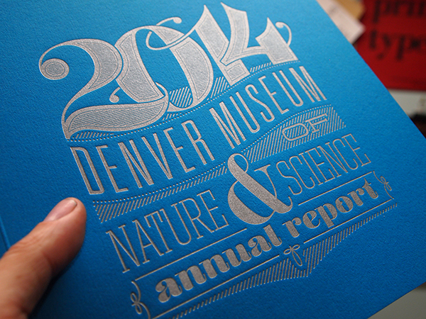 Silver metallic letterpress printed invitation piece amps up the wow-factor at Genghis Kern.