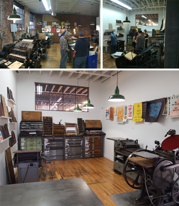Pressman and presses alike convene beautifully at the commercial letterpress printshop that is Genghis Kern.