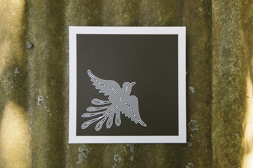 Soar, a letterpress art print designed by George Davis and printed by Boxcar Press