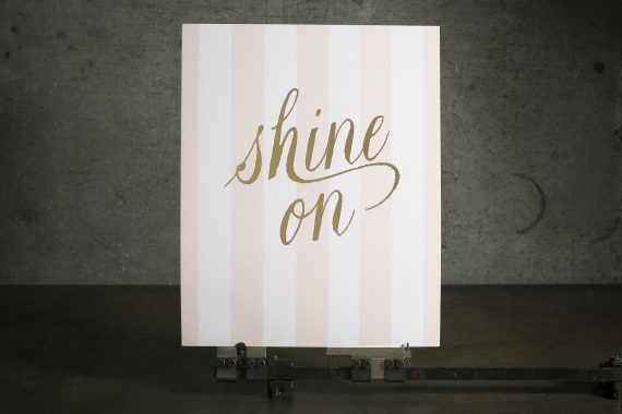 Pink + gold foil stamped art prints printed by Boxcar Press for Ophelia's Place