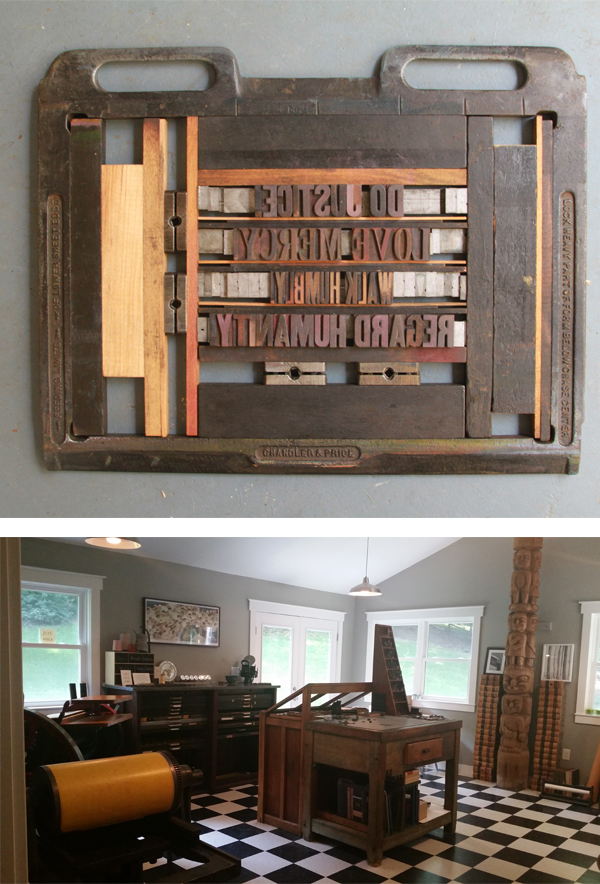 Melissa Livingston prints gorgeous letterpress pieces in Virginia, USA.