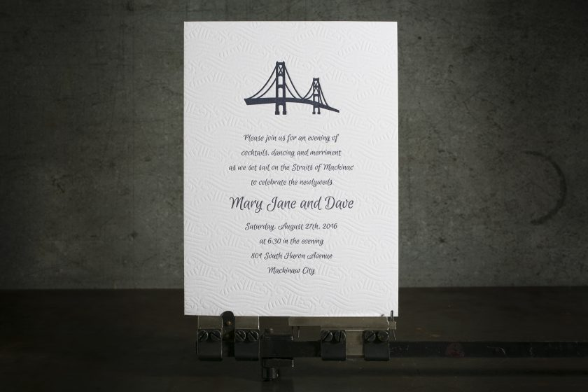 Letterpress wedding invitations from Boxcar Press