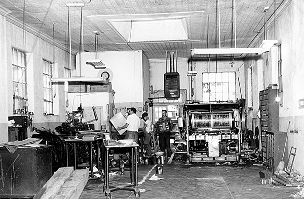 Quanah Tribune (Texas, USA) early printing days in the 1950s-1960s.