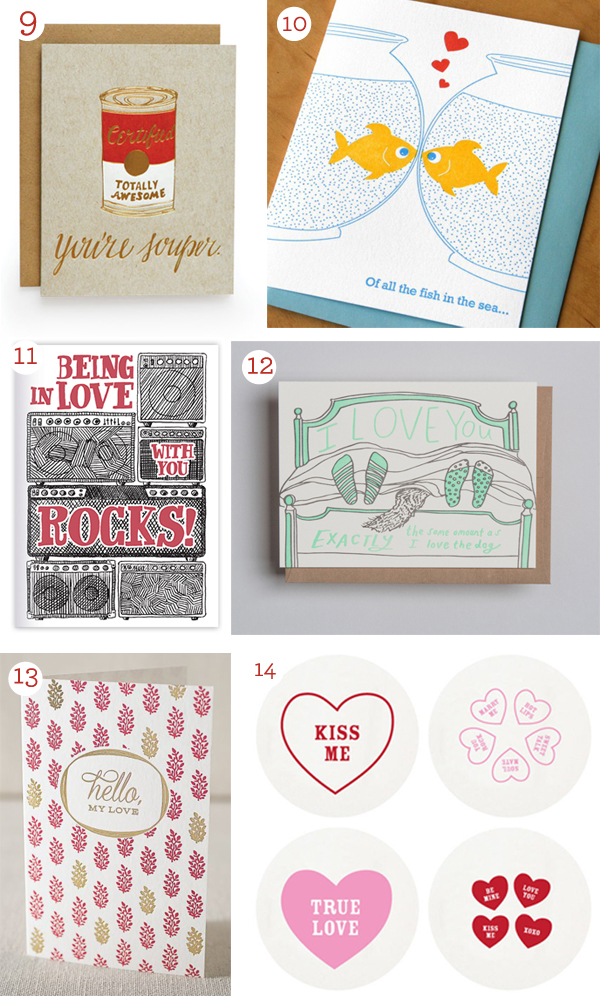 Valentine's Day letterpress cards of 2017 feature romance, funny love, and sweet messages.