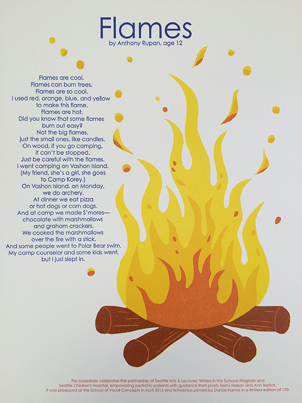 Darcie Kantor creates beautiful broadsides for the 2016 SVC Children's Broadsides project.