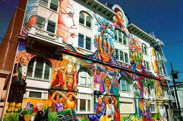 The Mission of San Francisco has beautiful murals and creative energy.