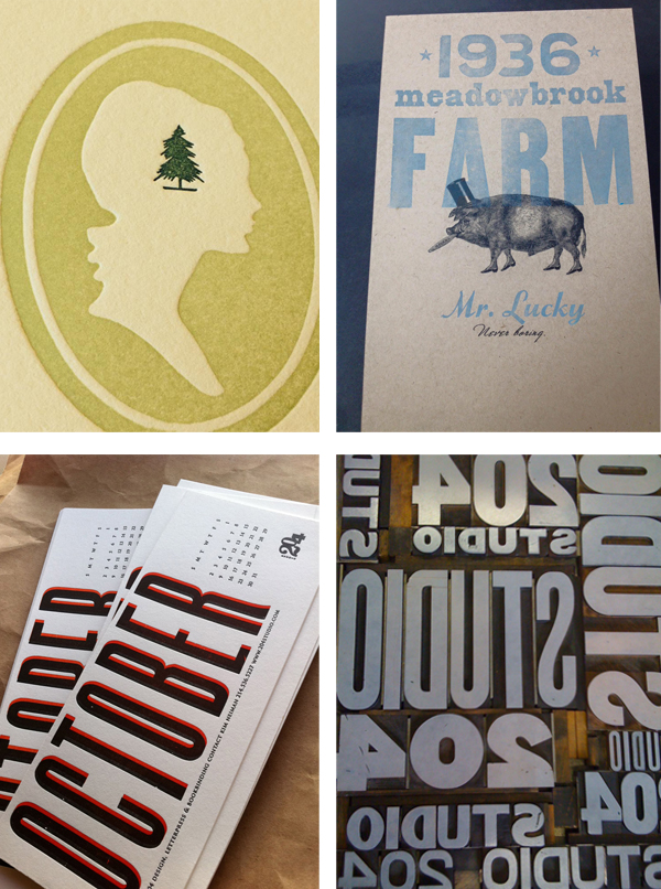Texas-based Kim Neiman of STUDIO 204 served fresh letterpress prints in bold, colorful flavors.