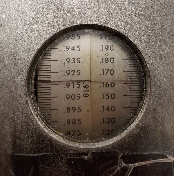 Vandercook-galley-gauge-918