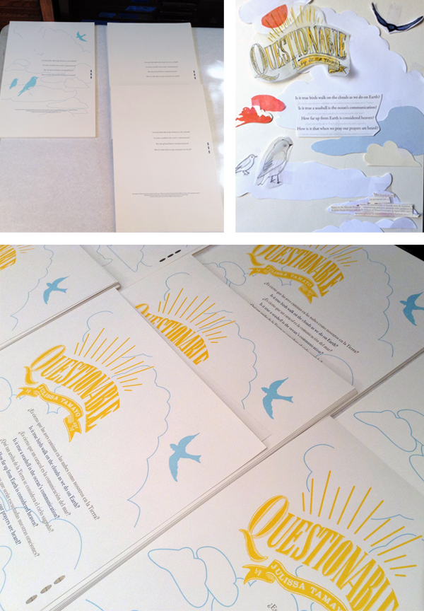 Carol Clifford letterpress prints for SVC Children's Broadsides.