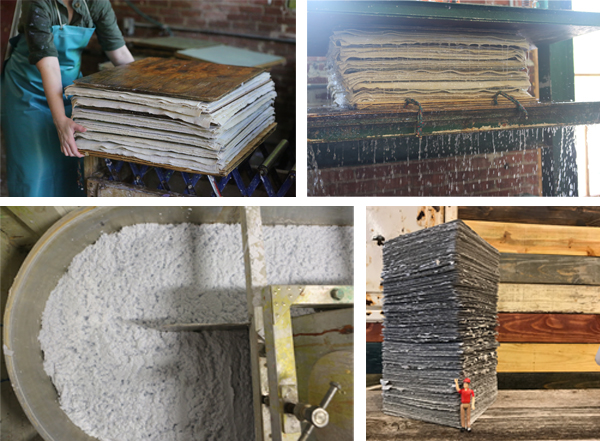 Printing on Specialty Papers: Seed Paper or Handmade Paper - In-process papermaking seen at Porridge Papers.