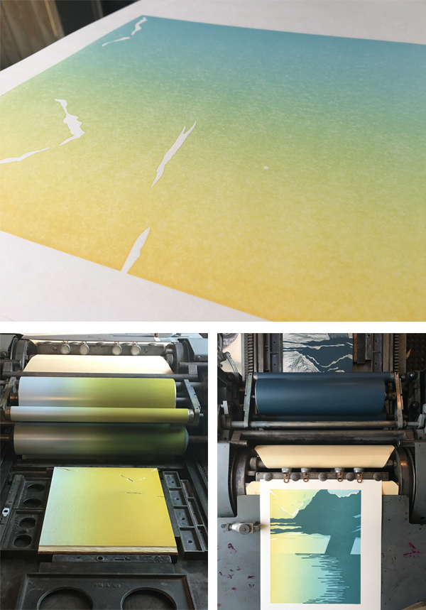 Multicolor letterpress printing from Sarah Kulfan.