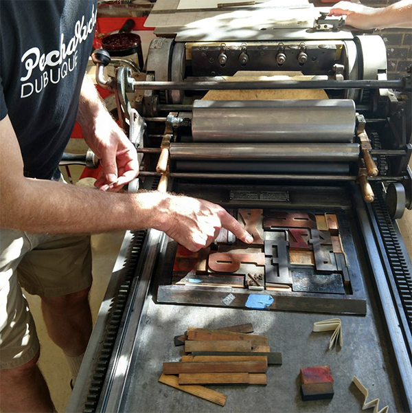 Boxcar Press has printing fun at Ladies of Letterpress conference 2017 in St. Louis, Missouri.