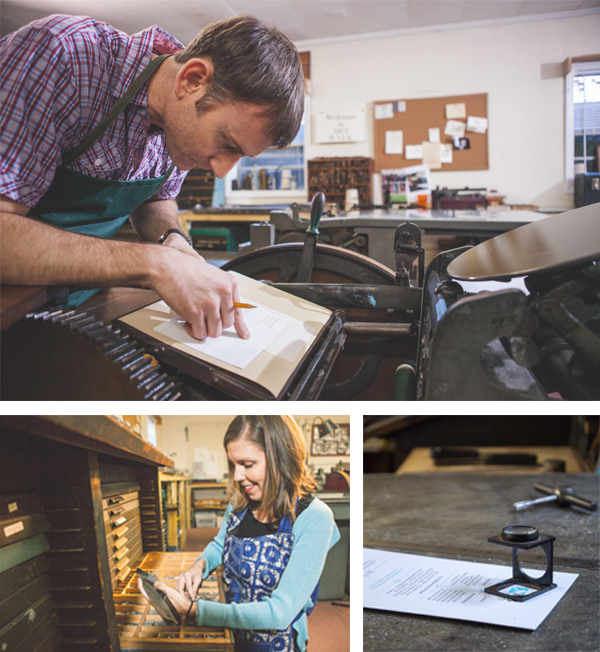 Brannon Carter and Robin of R&B Printery create handmade and letterpress printed goods.