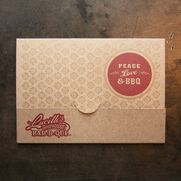 BBQ letterpress invitation by the Cranky Pressman.