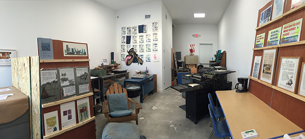 The printing abode of Extra Virgin Press in Miami, Florida.