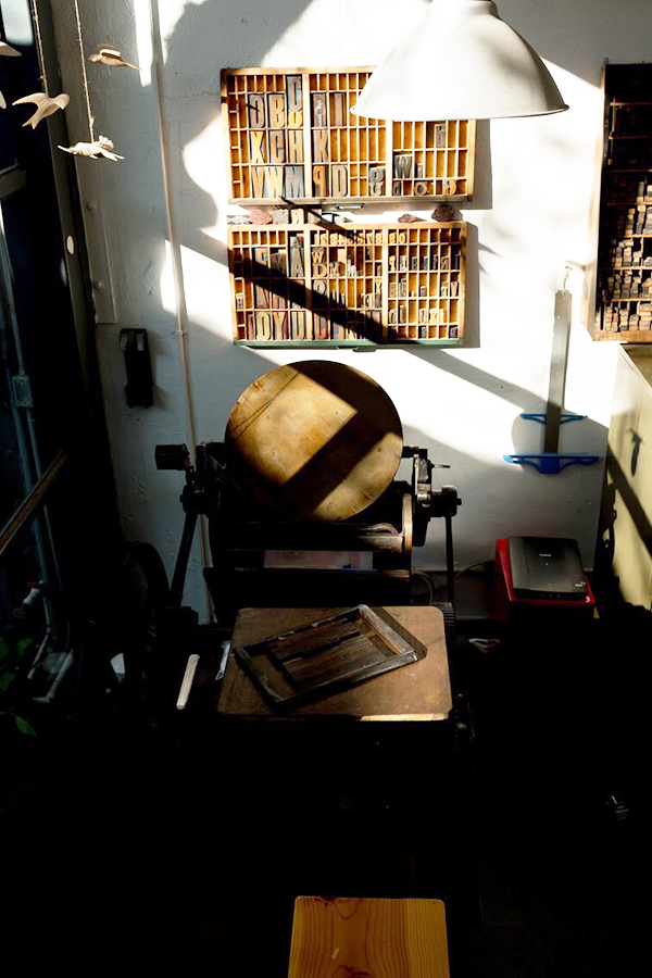 A beloved Pilot Press awaits for the next printing adventure in the Puro Papel studio.
