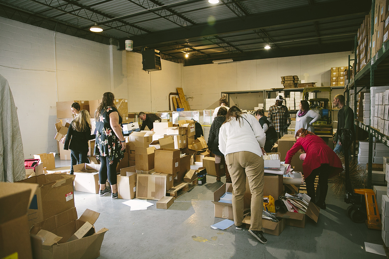 2018 Paper Giveaway for Local Central New York Teachers Adds More Art Materials to the classroom.