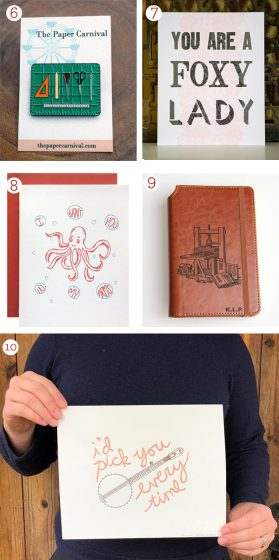 Valentine's Day Letterpress Gift Guide - 2019. Cards, journals, and printing goodies galore!