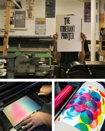Chris Fritton of the Itinerant Printer project visits a vast array of letterpress print shops across the US and Canada.