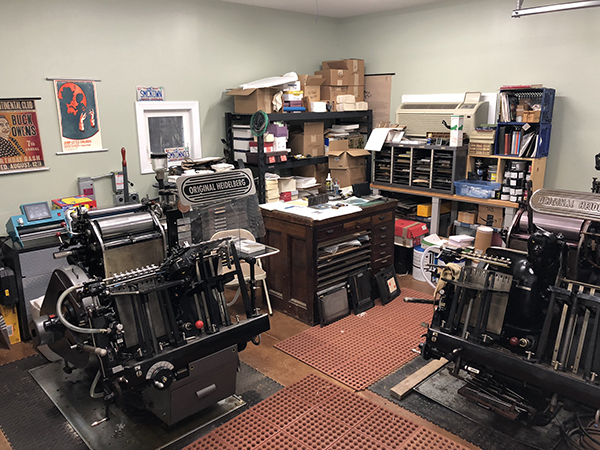 Old North State Press foil and letterpress printing.