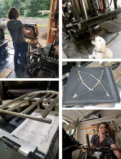 Debra Barclay of Ancora Press (Washington state, USA) prints beautifully on a Heidelberg Windmill.