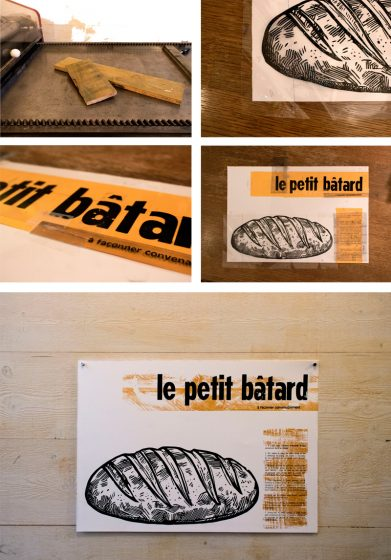 L'Imprimerie Bâtard is a France-based letterpress printshop that features a combination of handset type and new printing technology creations.