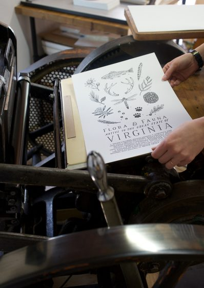 Field Guides , Illustration artist Clara Cline & letterpress printer Colby Beck of Post Rider Press bring naturalist-themed American field guides to life via letterpress.