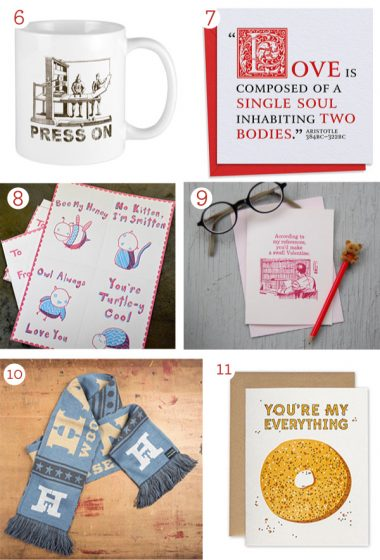 2020 Valentine's Day Letterpress Gift and Card Guide; featuring beautifully printed cards, gifts, drinks, and more!