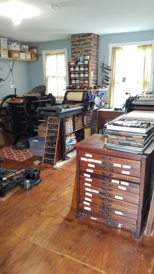 Bower Box - Val Lucas - Maryland letterpress print shop