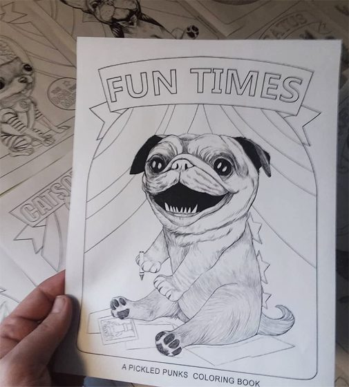 PickledPunks - free coloring book PDF downloadable