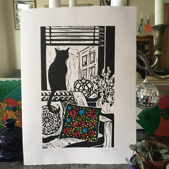 Kate Guy is a London, UK, based linocut and fine printmaking artist.